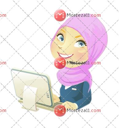 Woman hijab Character
